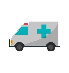 Ambulance of medical care design vector