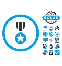 Army Award Flat Icon with Bonus vector image vector image