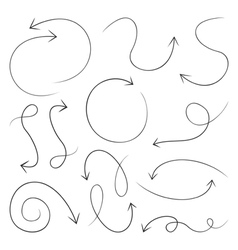 Arrow drawing7 vector image vector image