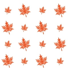 Autumn polygonal maple leaves seamless pattern vector