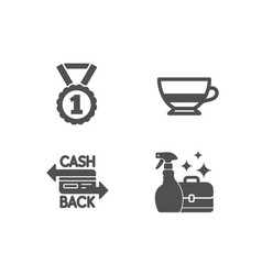 Best rank bombon coffee and cashback card icons vector