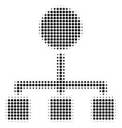 black dotted hierarchy icon vector image