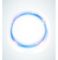 Blue abstract shining circle vector