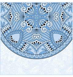 Blue colour ornamental floral template with circle vector