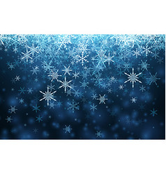 Blue winter background with snowflakes vector image