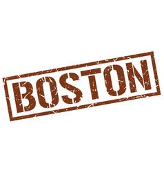 boston brown square stamp vector image