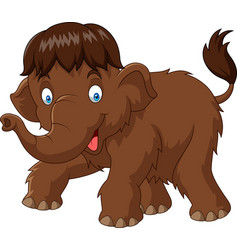 Cartoon baby mammoth vector