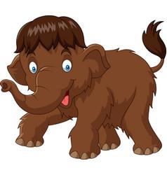cartoon baby mammoth vector image