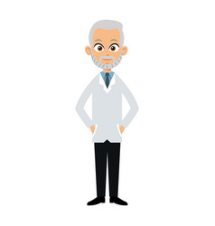 Charatcer doctor man wearing coat vector
