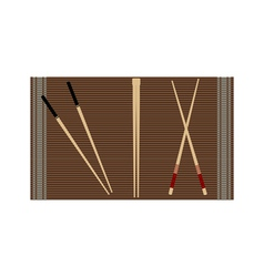 chopsticks for sushi vector image