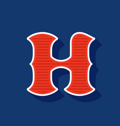 Classic style h letter sport logo vector