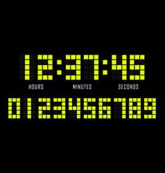 Countdown website flat template digital clock vector