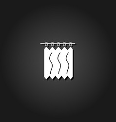 curtains icon flat vector image
