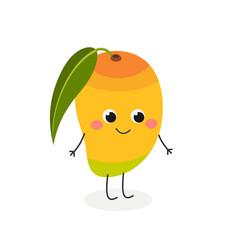 cute cartoon mango vector image