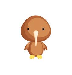 Cute funny baby kiwi bird cartoon vector