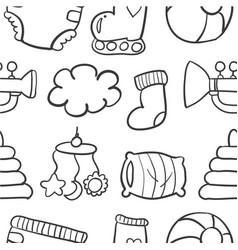 Doodle of baby set collection stock vector