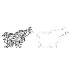 Dot contour map of slovenia vector