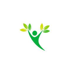 Eco wellness logo icon design vector
