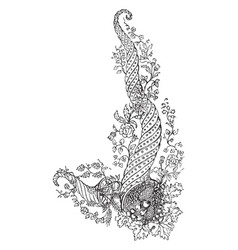 embroidery design is intended to decorate the vector image