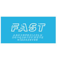 Font style minimalist line technology design vector
