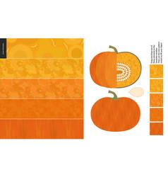 food patterns vegetable pumpkin vector image