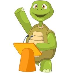 Funny Turtle Presentation vector image vector image