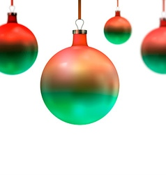 Green Bauble Background for Christmas Design vector