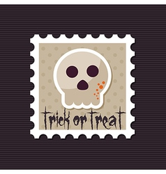 Halloween skull stamp vector