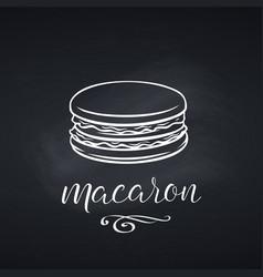 hand drawn macaron dessert vector image