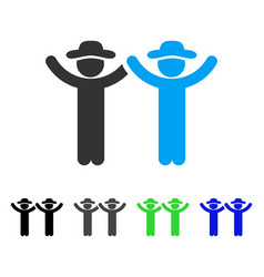 hands up gentlemen flat icon vector image