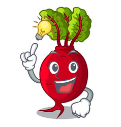 Have an idea whole beetroots with green leaves vector