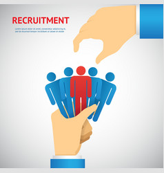 human resource and recruitment vector image