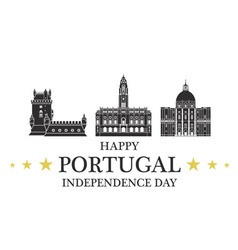 Independence Day Portugal vector