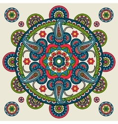 Indian paisley hand drawn mandala vector image