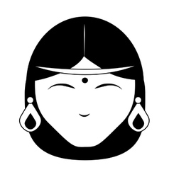 Indian women face vector