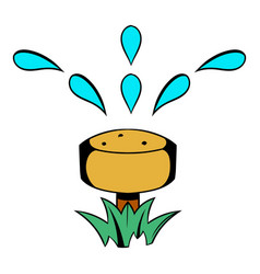Irrigation hose icon cartoon vector