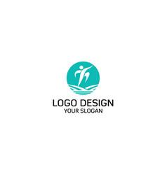 land athlete logo design vector image