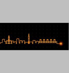 lille light streak skyline profile vector image