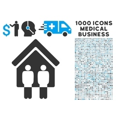 Living persons icon with 1000 medical business vector