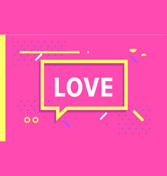 love in design banner template for web vector image