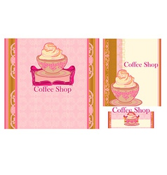 menu coffee shop and restaurant set vector image