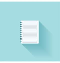 Notepad flat cion with shadow vector