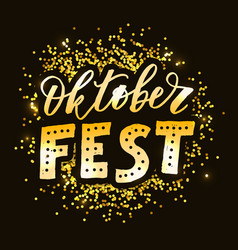 Oktoberfest lettering calligraphy brush text vector