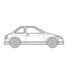 Outline coupe car body style icon vector