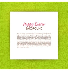 Paper over Happy Easter Line Art Background vector image