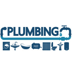 Plumbing service and repair symbol vector