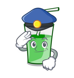 police green smoothie character cartoon vector image