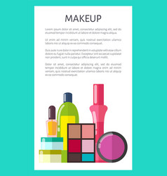 Professional makeup means vertical promo poster vector