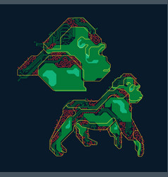 Robotic gorilla vector