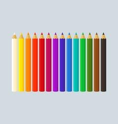 Row of Crayons vector